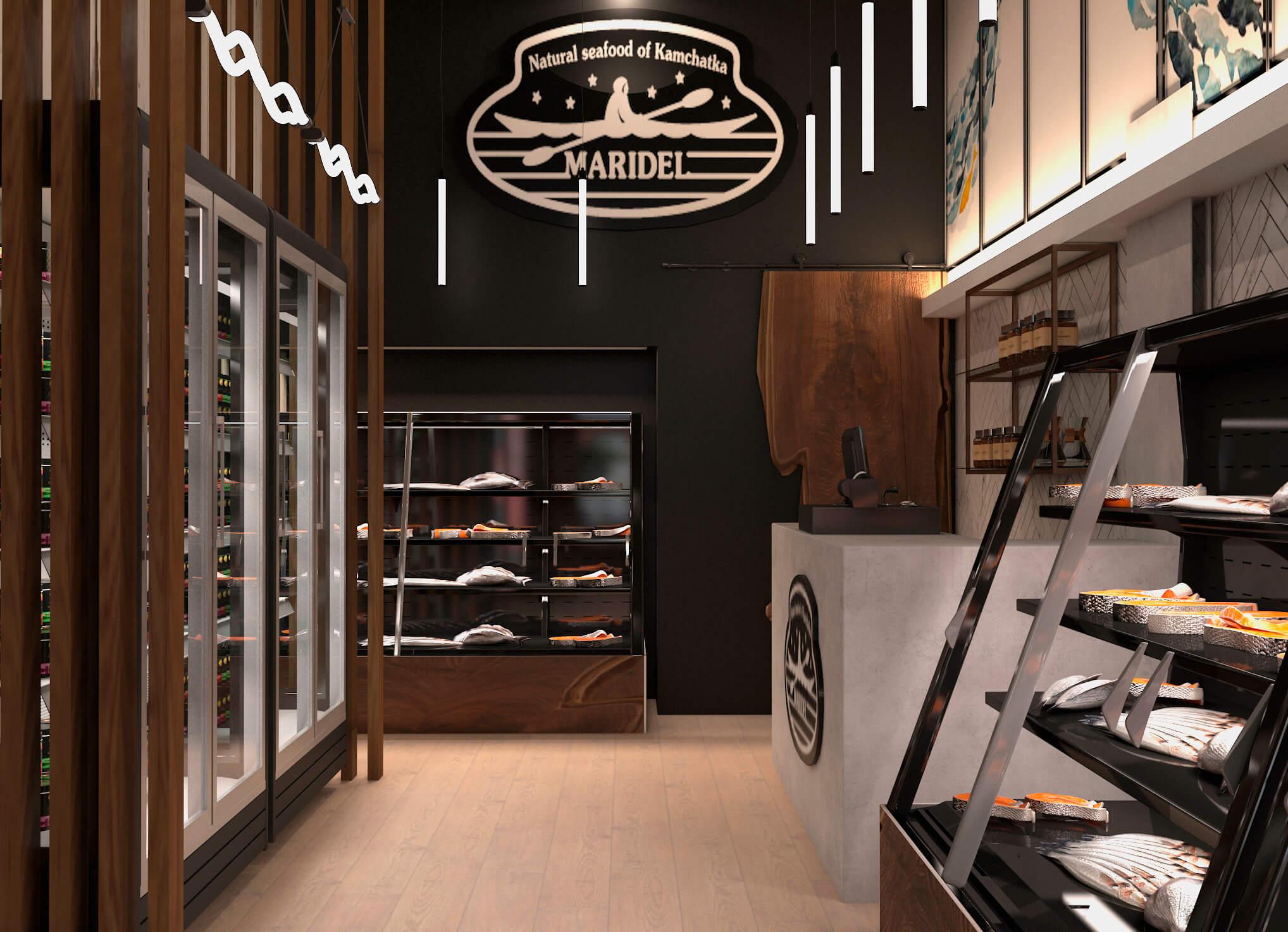 Рыбный маркет «Maridel»; Москва
